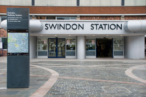 Swindon's station forecourt